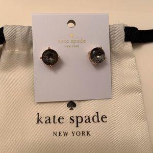 kate spade gum drop studs in black diamond